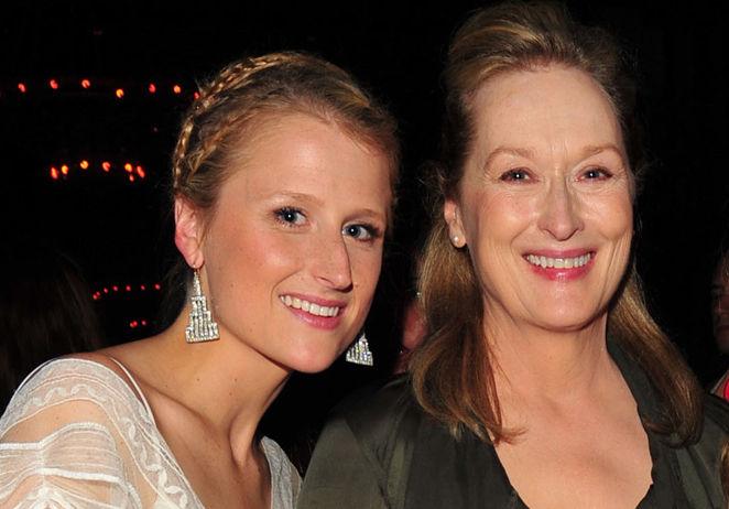Meryl Streep com a filha Mamie Gummer
