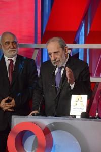 Momento do discurso de Álvaro Siza Vieira aquando da entrega do Prémio SPA Vida e Obra. Foto SPA.
