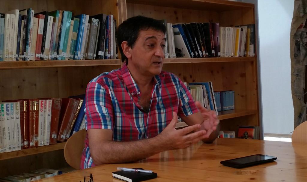 Entrevista a Fernando José Rodrigues, na Escola Secundária Francisco Rodrigues Lobo, em Leiria